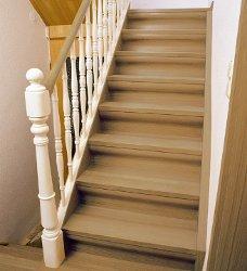 Alte PVC Treppe nach der Renovierung
