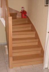 Alte Steintreppe nach Renovierung